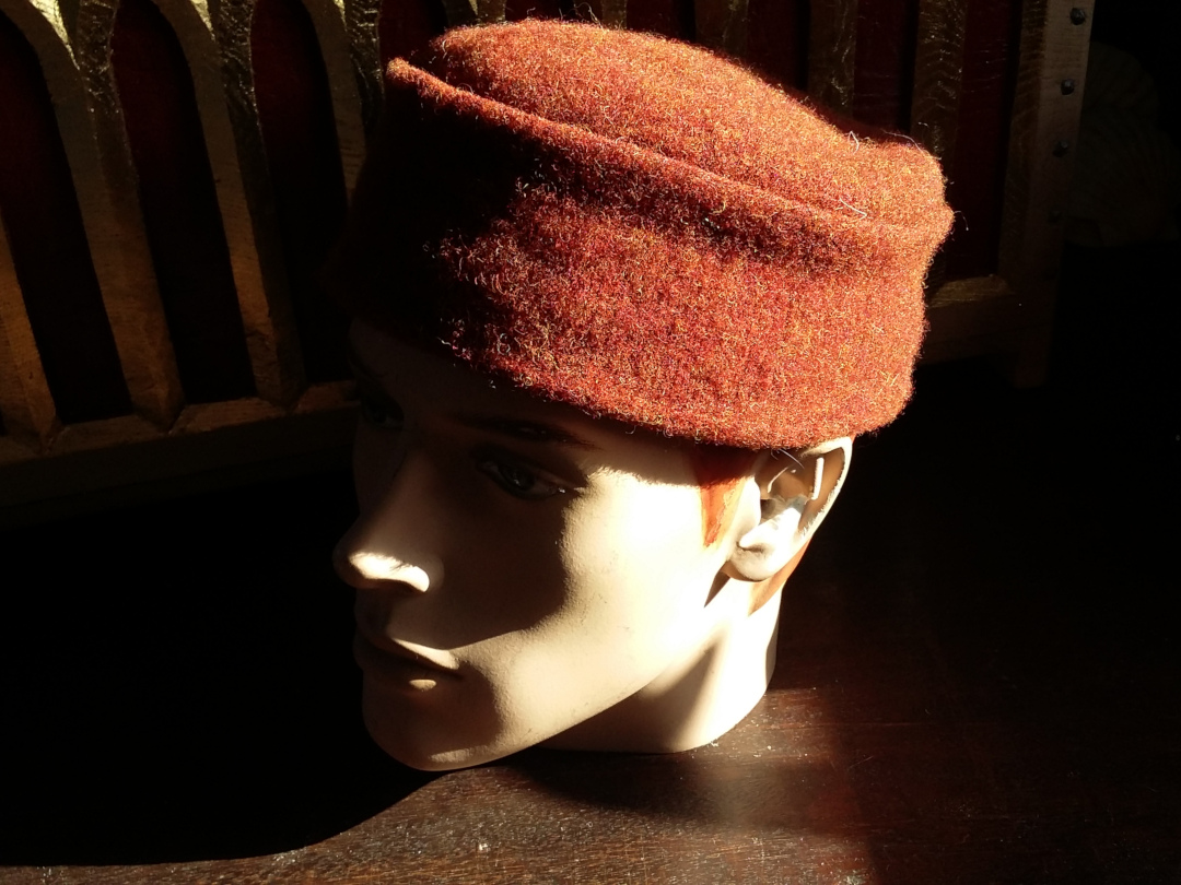 Red flat-top hat