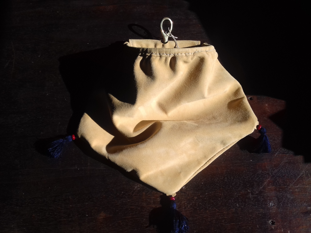 Leather frame pouch