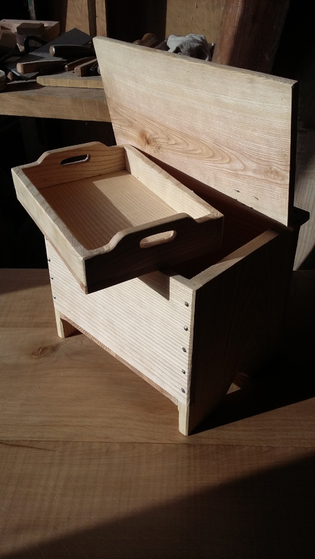A sewing box